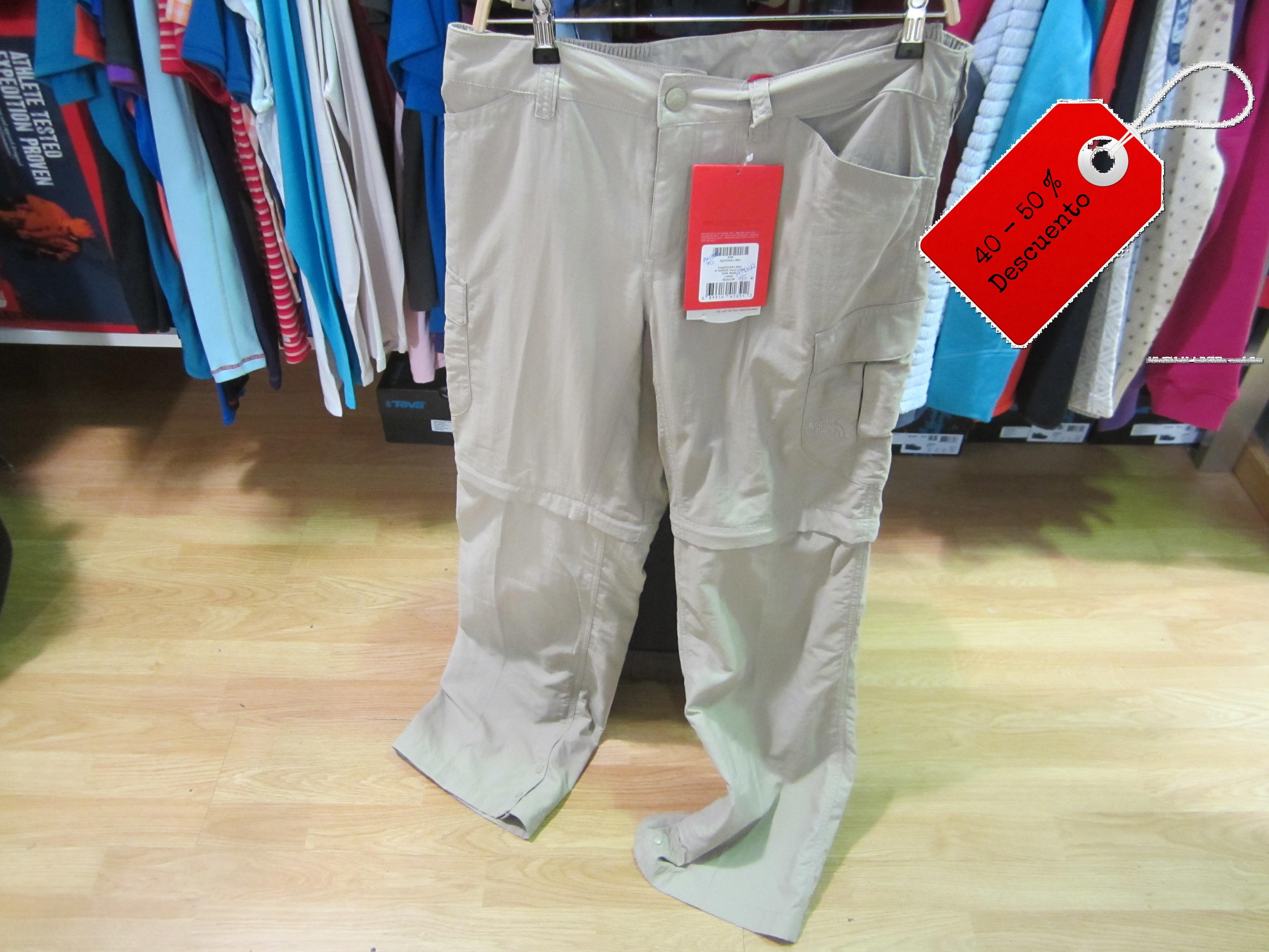 north face pantalones desmontables